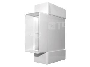Ventilační T-kus D/TP plochý