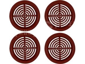 Větrací mřížka VM kruhová bez síťoviny hnědá