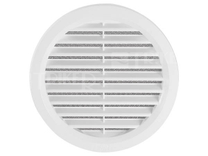 Větrací mřížka VM kruhová se síťovinou bílá 110 mm
