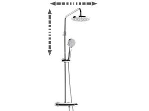 Victoria-T sprchová baterie termostatická se stavitelnou otočnou sprchou, chrom