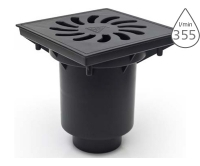 Vpusť kanalizační se suchou klapkou spodní KVS160 S-Li odpad 160/110mm, litinová mřížka, KVS 160 S-LI, Chuděj