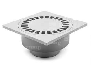Vpusť podlahová PV 250 75/110 P s vodní hladinou, spodní odpad 75/110 mm, plastová mřížka