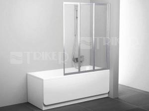 VS3 vanová zástěna VS3 130 (1296mm) profil:satin, výplň:transparent