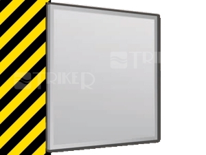 Výprodej Intedoor ALU zrcadlo 70 x 70 x 2,2 cm bez osvětlení
