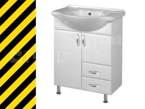 Výprodej Intedoor Klasik skříňka s umyvadlem 65 cm na 2 noužkách, bílá