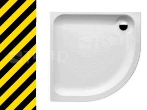 Výprodej Olymp vanička akrylátová čtvrtkruhová 80 x 80 x 6,3 cm R550, bílá