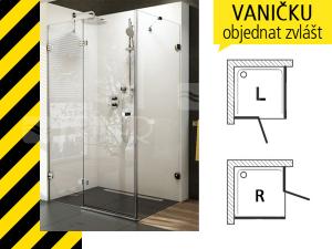 Výprodej Ravak BDSDPS 100/80 R dveře + stěna chrom/transparent