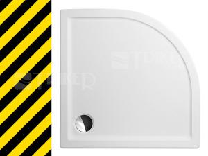 Výprodej Roltechnik Flat round vanička akrylátová 100 x 100 x 5 cm R550 bílá
