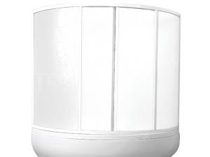VZ vanová zástěna VZ ISLAND 2/120 profil:bílý, výplň:pearl