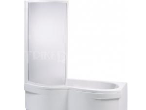 VZKO1 vanová zástěna VZKO 1/80 ISLAND, profil:bílý, výplň:pearl