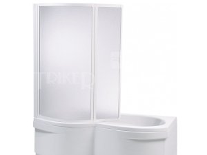 VZKO2 vanová zástěna VZKO 2/110 CEJLON, profil:bílý, výplň:pearl