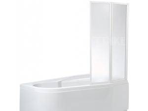 VZKR2 vanová zástěna VZKR 2/90, profil:bílý, výplň:pearl