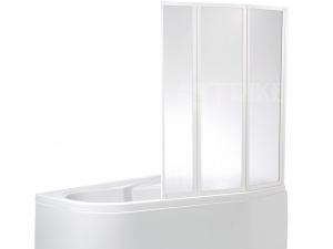 VZKR3 vanová zástěna VZKR 3/110 profil:bílý, výplň:pearl