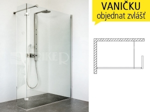 WALK IN C sprchový kout WALK C/1000 profil:brillant, výplň:transparent