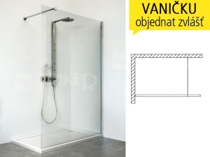 WALK IN G sprchový kout WALK G/1200 profil:brillant, výplň:transparent
