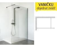 WALK IN G sprchový kout WALK G/900 profil:brillant, výplň:transparent, 940-9000000-00-02, Roltechnik