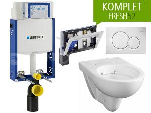 Závěsný WC komplet Geberit FRESH52 oválný