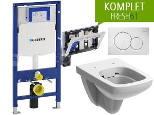 Závěsný WC komplet Geberit FRESH61 pravoúhlý