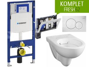 Závěsný WC komplet Geberit FRESH62 oválný