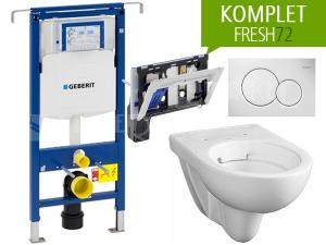 Závěsný WC komplet Geberit FRESH72 oválný