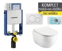 Závěsný WC komplet T-05 Kombifix Eco + Chrome UNI RimOff klozet závěsný, T-05 RCR, Geberit
