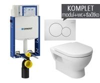 Závěsný WC komplet T-05 Kombifix Eco + Cubito klozet závěsný, T-05 JCU, Geberit