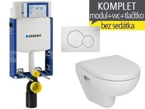 Závěsný WC komplet T-05 Kombifix Eco + Lyra plus Compact klozet závěsný 49 cm