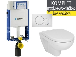 Závěsný WC komplet T-05 Kombifix Eco + Lyra plus klozet závěsný 53 cm