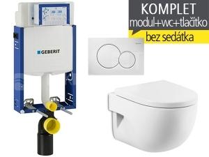 Závěsný WC komplet T-05 Kombifix Eco + Meridian Compact klozet závěsný 48 cm