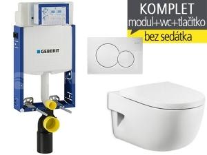 Závěsný WC komplet T-05 Kombifix Eco + Meridian klozet závěsný 56 cm