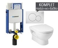 Závěsný WC komplet T-05 Kombifix Eco + Mio klozet závěsný, T-05 JMI, Geberit