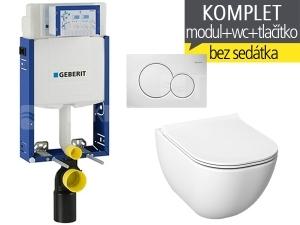Závěsný WC komplet T-05 Kombifix Eco + Mio-N klozet závěsný 53 cm