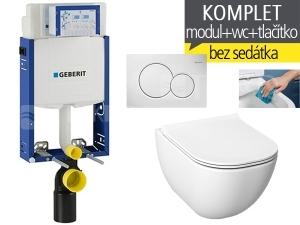 Závěsný WC komplet T-05 Kombifix Eco + Mio-N RIMLESS klozet závěsný 53 cm