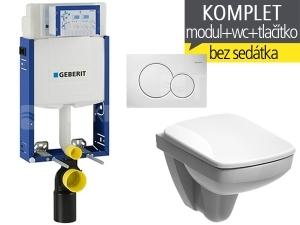 Závěsný WC komplet T-05 Kombifix Eco + Nova Pro Compact klozet závěsný pravoúhlý 48 cm