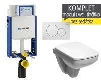 Závěsný WC komplet T-05 Kombifix Eco + Nova Pro Compact klozet závěsný pravoúhlý, T-05 KNP C, Geberit