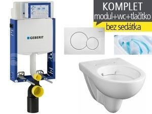 Závěsný WC komplet T-05 Kombifix Eco + Nova Pro RIMFREE klozet závěsný oválný 53 cm