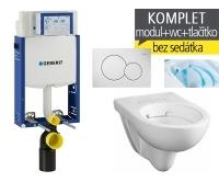 Závěsný WC komplet T-05 Kombifix Eco + Nova Pro Rimfree klozet závěsný oválný, T-05 KNR O, Geberit