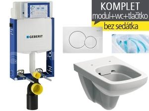 Závěsný WC komplet T-05 Kombifix Eco + Nova Pro Rimfree klozet závěsný pravoúhlý