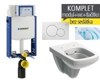 Závěsný WC komplet T-05 Kombifix Eco + Nova Pro Rimfree klozet závěsný pravoúhlý, T-05 KNR P, Geberit