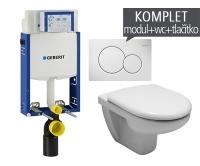 Závěsný WC komplet T-05 Kombifix Eco + Olymp klozet závěsný, T-05 JOL, Geberit
