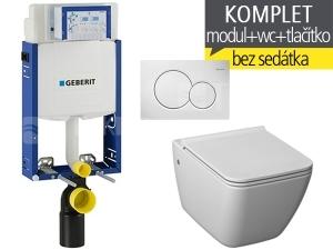 Závěsný WC komplet T-05 Kombifix Eco + Pure klozet závěsný 54 cm
