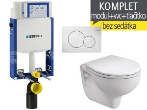 Závěsný WC komplet T-05 Kombifix Eco + Rekord klozet závěsný 52 cm