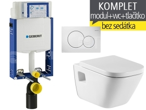 Závěsný WC komplet T-05 Kombifix Eco + The Gap klozet závěsný 54 cm