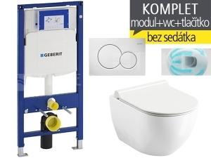 Závěsný WC komplet T-06 Duofix + Chrome UNI RIMOFF klozet závěsný 51 cm