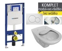 Závěsný WC komplet T-06 Duofix + Dino Rimless klozet závěsný, T-06 JDR, Geberit