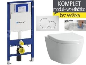 Závěsný WC komplet T-06 Duofix + Laufen Pro RIMLESS klozet závěsný 53 cm