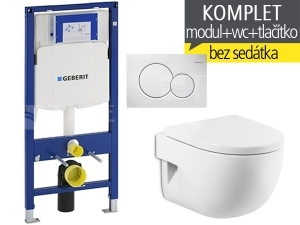 Závěsný WC komplet T-06 Duofix + Meridian Compact klozet závěsný 48 cm