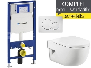 Závěsný WC komplet T-06 Duofix + Meridian klozet závěsný 56 cm