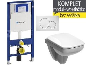 Závěsný WC komplet T-06 Duofix + Nova Pro Compact klozet závěsný pravoúhlý 48 cm