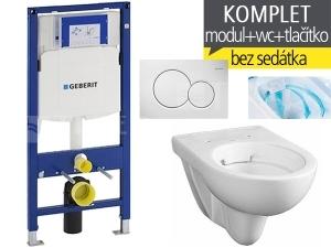 Závěsný WC komplet T-06 Duofix + Nova Pro RIMFREE klozet závěsný oválný 53 cm